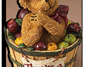 Boyds Bear Basketberries Newton Bear NIB
