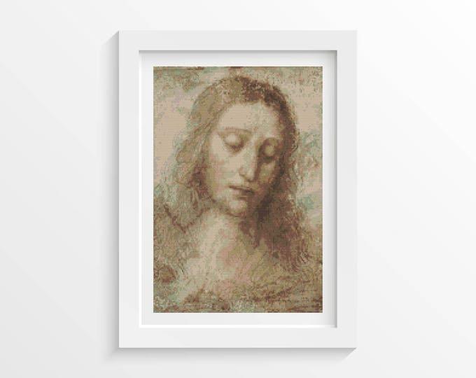 Head of Christ Cross Stitch Chart by Leonardo da Vinci (DAVIN01)