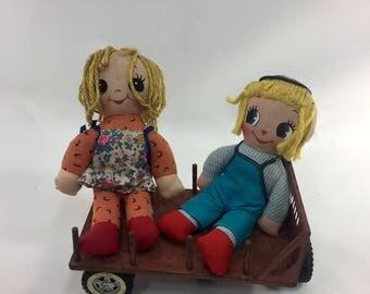 Rag Dolls,  Boy and Girl Doll, Stuffed Doll