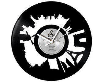 Paris Vinyl Clock