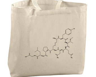 Science Teacher Gifts Oxytocin Molecule Science Tote Bags for Teachers Girlfriend Gifts Scientist Gifts Med School Student Gifts for Grads