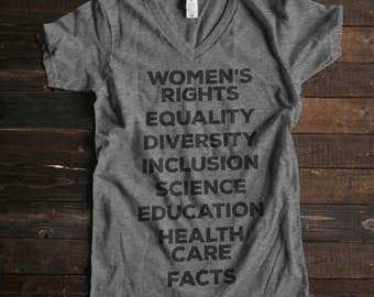 Nasty Woman Shirt Science March Shirt Such a Nasty Woman T Shirt Womens V Neck Womens Rights Science Shirt Political Shirt Womens Tshirts