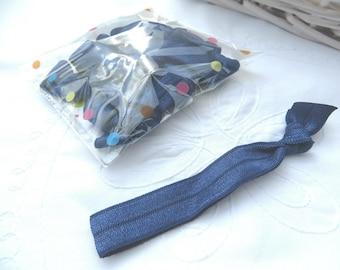 NAVY - ten navy elastic hair ties
