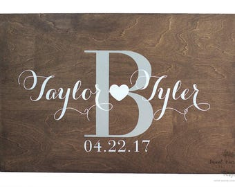 Rustic Wedding Guestbook Alternate | Rustic Wedding Guestbook Alternatives | Personalized Wedding Guestbook Alternate - WS-250