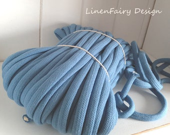WHOLESALE 30 meters Blue Cotton Rope 10 mm Cotton With Filling Natural Rope for Crafts Jewellery Decorations