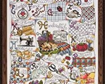 Cross Stitch Kit - Stitching ABC