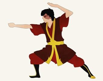 Avatar The Last Airbender Prince Zuko fire nation firebender
