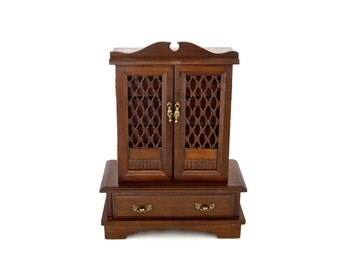 Large Jewelry Music Box, Solid Wood Jewelry Armoire, Vintage Musical  Jewelry Cabinet