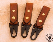 Oak Bark Leather Keyper with ITW Military CLASH Hook