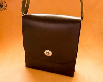 Horween Chromexcel Leather Messenger Bag (Dark Brown)