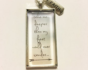 Oceans personalized message necklace