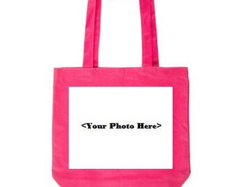 Pink Custom Photo Tote