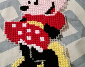 Minnie Mouse Cross-Stitch Wall Hanging/Keychain