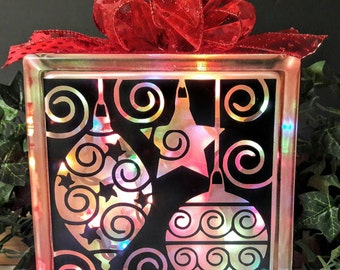 Ornaments Lighted Glass Block