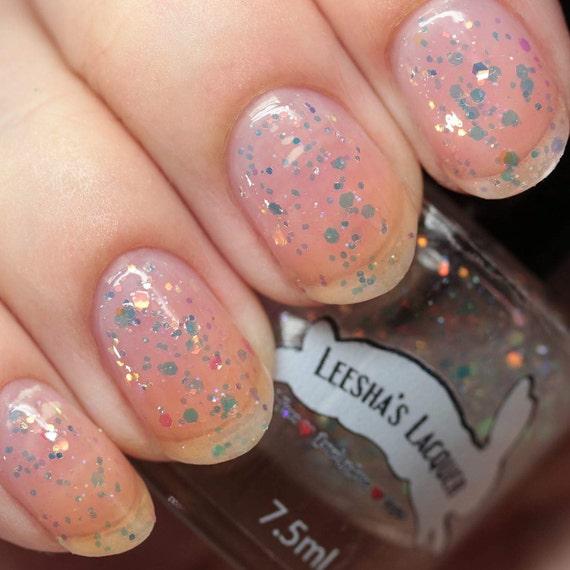 Opal Glitter Nail Polish: Rainbow Shifting Glitter Nail Polish, Color Shifting, Opal