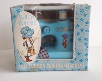 Cute Vintage 1970's Holly Hobby Toy Sewing Machine / Still in Original Box