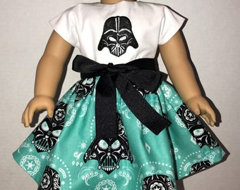 18 Inch Doll Embroidered Star Wars Dress