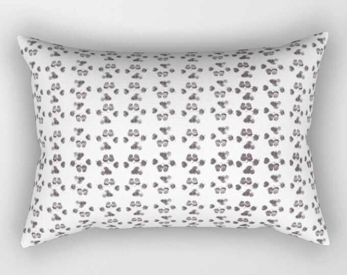 Puppy Paw Prints Pillow Cover - Includes Insert - Small Paw Prints - Bed Pillow - Arrow Pattern - Throw Pillow - Made to Order