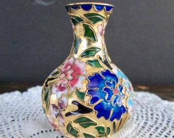 Small Mini Cloisonné Vase
