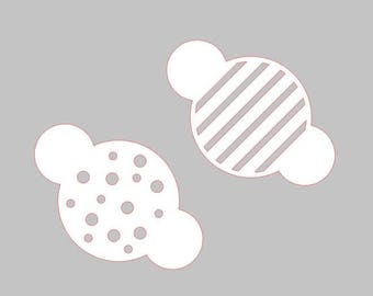 Cookie Stencil - 3 Inch Design - Dots or Stripes
