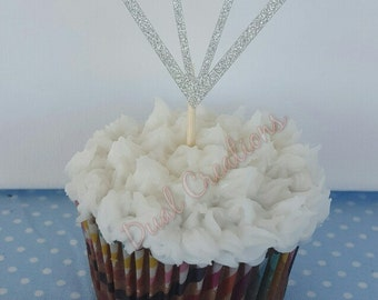 2 inch diamond cupcake topper