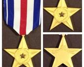Gulf war era us silver star full size medal
