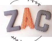 boys alphabet letter fabric letter nursery decor kids room initial decor name decoration nursery stars gifts for baby baby shower