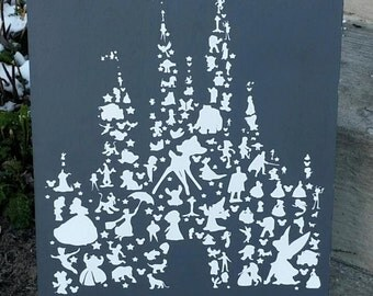 Disney, Disney wood sign, Disney Castle, Wood Sign, Welcome to our castle, Disney characters, wood sign, Disney