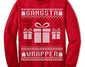 Gangsta Wrapper ugly Christmas sweatshirt