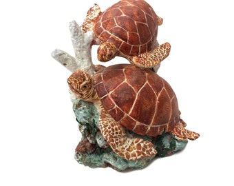 Sea Decoration For Bathroom, Russ Berrie Oceana Loggerhead Sea Turtle Figurine, Numbered Collectible Sculpture
