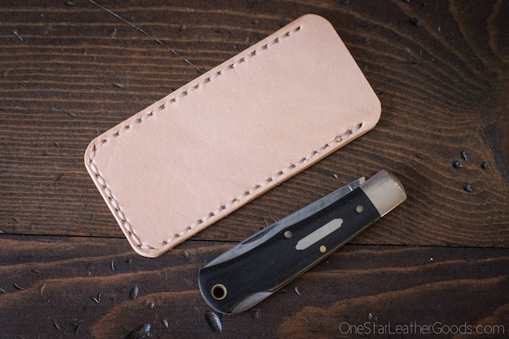 Pocket knife slip case, Size Small, fits GEC, Mnandi, Victorinox and others - natural veg