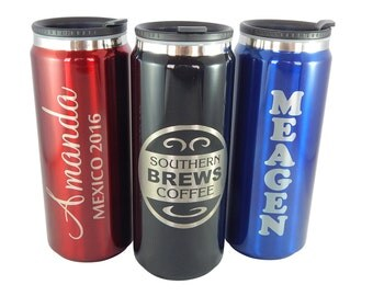 Custom 15.2 oz. Stainless Steel Can Travel Mug Personalized FREE Engraving