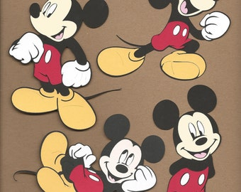 4 5.5 inch Assorted Mickey Mouse Cricut Die Cuts