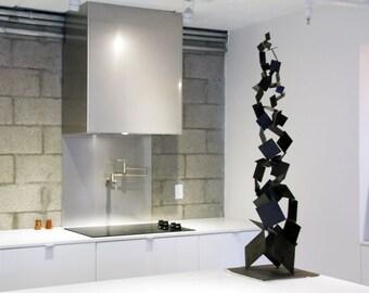 Metal Brutalist Abstract Art Sculpture Modern Retro Standing Decor Contemporary Mid Century Modernist 50s 60s by Petrykowski Artworks