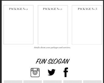 Social Media Services Template