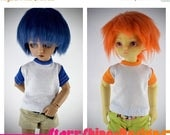 Sale 20% Off BJD YoSD 1/6 Doll clothing - 2 Toned Crew Neck Tee - Your Choice of 20 Colors