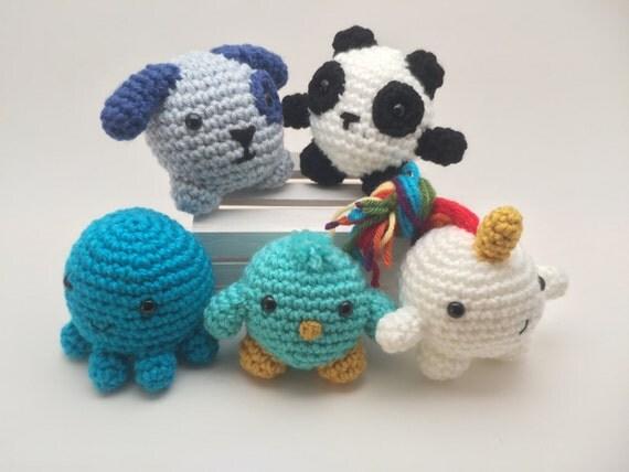 Mini Amigurumi Animalsset of 2crochet animalsstuffed