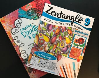Creative Doodling and Beyond and Zentangle 9, a 2 Book Set