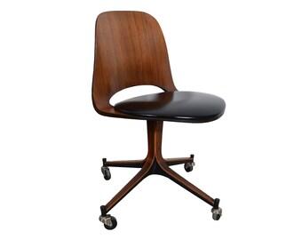 Plycraft Desk Chair Walnut George Mulhauser