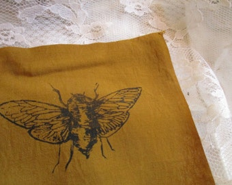Small Cicada Patch 8 fabric colour options