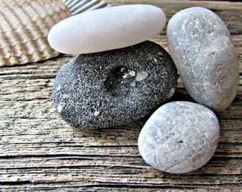 Beach Rocks - Zen Stones - Terrarium Decor - Aquarium Decoration - Desktop Zen Garden Decor - Meditation Alter - Relaxation Co Worker Gift