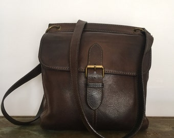 Brown Leather Crossbody bag