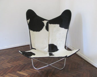 Butterfly Chair BKF Brindle Canvas Stainless Steel Frame 6389