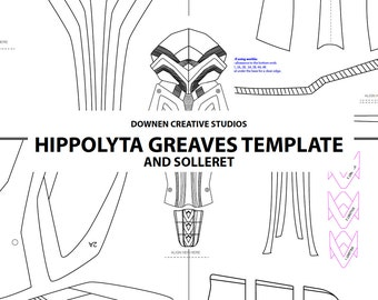 Hippolyta Greaves and Solleret Template Download