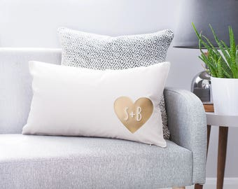 Personalised Couples Heart Cushion - Couples Cushion - Personalised Cushion - Custom Cushions - Scandinavian Cushion - Gift For Couples