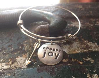Choose JOY bangle charm bracelet