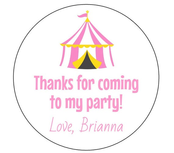 Like this item?  sc 1 st  Etsy & 12 Pink Circus Tent Stickers First Birthday Circus Theme