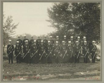 Hellertown PA Knights of Golden Eagle masonic group antique photo