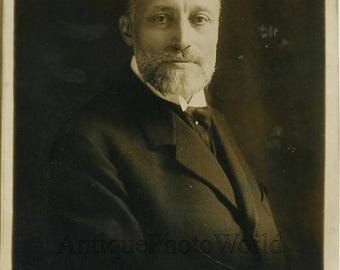 France War Minister Raiberti antique photo by H Manue