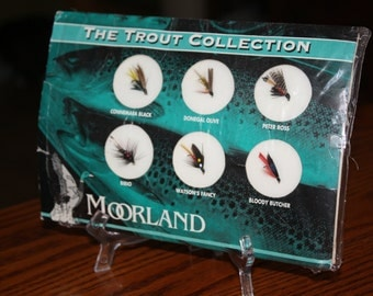 Set of Six Moorland & Co. Traditional  Trout Flies- Handcrafted by Irish Anglers
